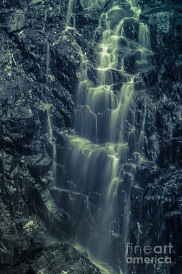 Hadlock Falls In Acadia National Park - Monochrome Art Print