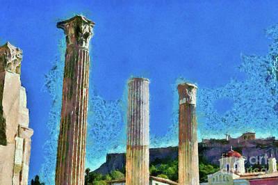 Painting - Hadrian' S Library by George Atsametakis