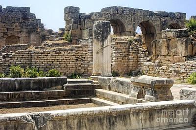 Aphrodisias Photograph - Hadrianic Baths In Aphrodisias by Bob Phillips