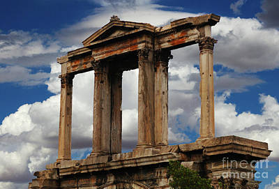 Arch Of Hadrian Athens Art Print by Bob Christopher