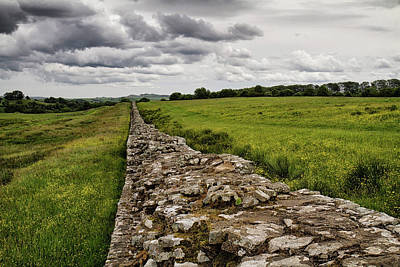 Photograph - Hadrians Wall West 5 by Shirley Mitchell