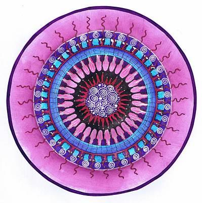 Drawing - Haeckel Mandala by Meegan Sullivan