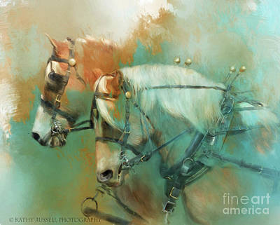 Haflinger Team Art Print