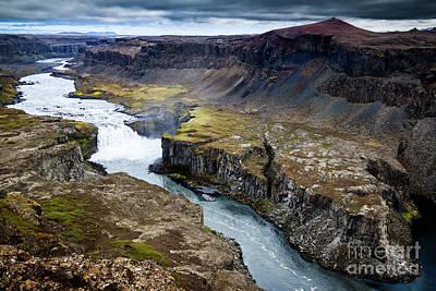 Photograph - Hafragilsfoss Waterfall by Silken Photography