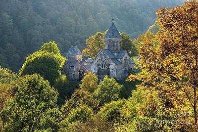 Photograph - Haghartsin Monastery With Trees In Front At Autumn, Armenia by Gurgen Bakhshetsyan