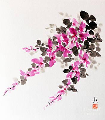 Painting - Hagi / Bush Clover by Fumiyo Yoshikawa