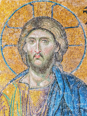 Greek Icons Painting - Hagia Sofia Jesus Mosaic Digital Painting by Antony McAulay