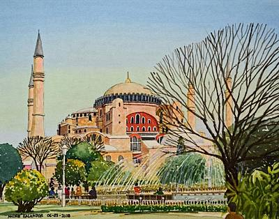 Painting - Hagia Sophia by Andre Salvador