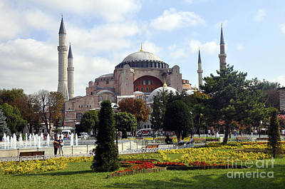 Photograph - Hagia Sophia by Andrew Dinh