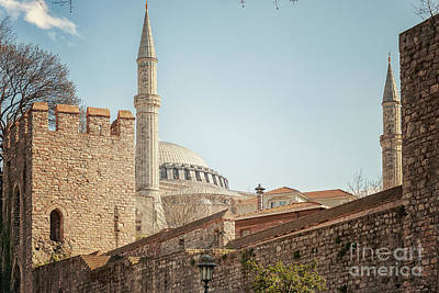 Photograph - Hagia Sophia Behind City Wall by Antony McAulay