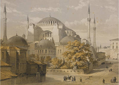 Street Painting - Hagia Sophia In Constantinople by Eastern Accents