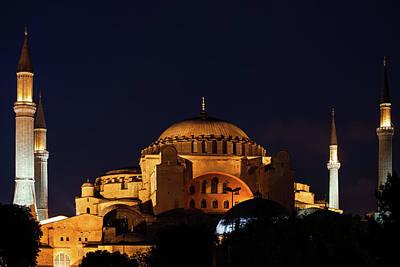 Photograph - Hagia Sophia In Istanbul At Night by Artur Bogacki