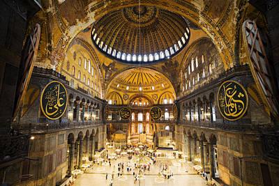 Aya Sofya Photograph - Hagia Sophia Interior by Artur Bogacki