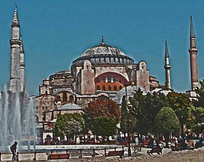 Photograph - Hagia Sophia Istanbul by Ian  MacDonald