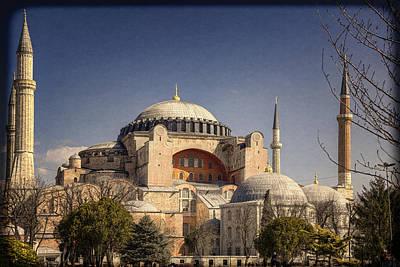 Landmarks Royalty Free Images - Hagia Sophia Royalty-Free Image by Joan Carroll