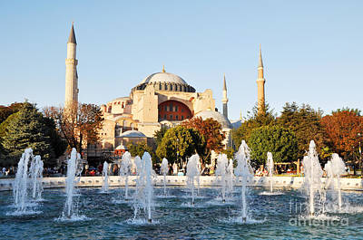 Photograph - Hagia Sophia Water Fountains by Andrew Dinh