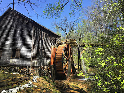 Photograph - Hagood Mill Historic Site Gristmill by Kelly Hazel