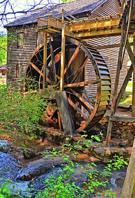 Photograph - Hagood Mill Waterwheel 003 by George Bostian