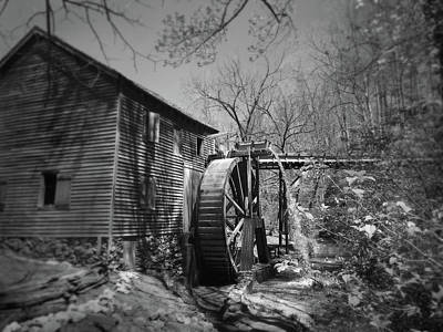 Photograph - Hagood Mill Waterwheel At Hagood Mill Historic Site by Kelly Hazel