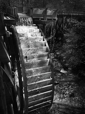 Photograph - Hagood Mill Waterwheel by Kelly Hazel