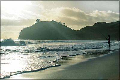 Photograph - Hahei Morning Line by Kevin Rosinbum EyewandersFoto