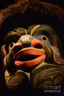 Haida Photograph - Nuxalk Mask From Bella Coola 2 by Bob Christopher