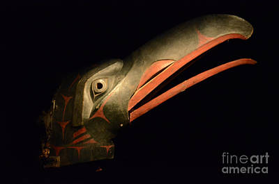 Haida Photograph - Nuxalk Raven Mask From Bella Coola   by Bob Christopher