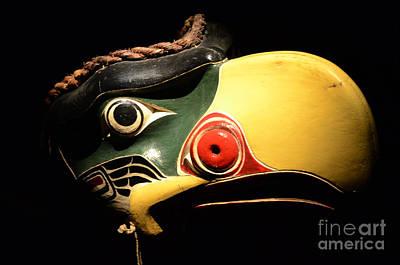 Haida Photograph - Kolus Mask Kwakwawak Mask 7 by Bob Christopher