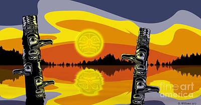 Haida Sunset Art Print by Christopher Williams
