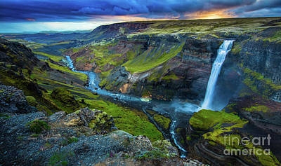 Photograph - Haifoss by Inge Johnsson