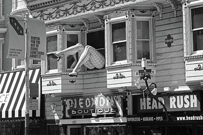 Photograph - Haight And Ashbury Legs San Francisco Ca Haight Street Black And White by Toby McGuire