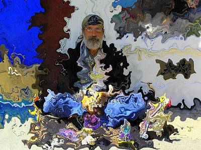 Trippy Photograph - Haight Ashbury Street Vendor by Jen White