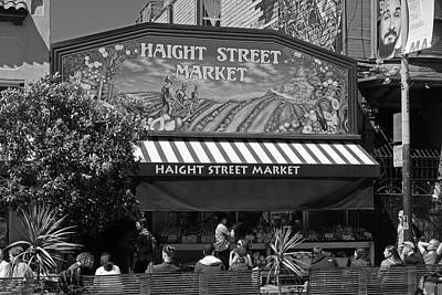 Photograph - Haight Steet Market San Francisco Black And White by Toby McGuire