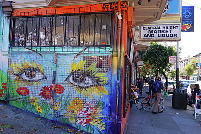 Photograph - Haight Street San Francisco Face Mural by Toby McGuire