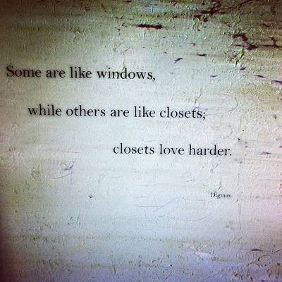 Poetry Photograph - Closets Love Harder by Steven Digman