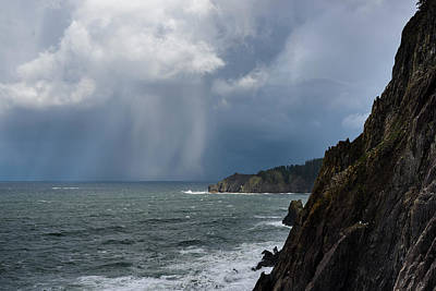 Photograph - Hail At Cape Falcon by Robert Potts