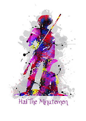 Independence Mixed Media - Hail The Minutemen by Peter Stevenson