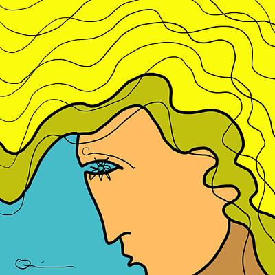 Digital Art - Hair 3 by Jeff Quiros