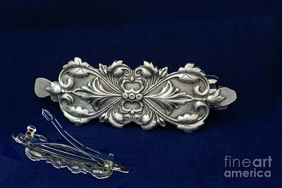 Jewelry - Hair Barrette Art Nouveau Sterling Silver by Melany Sarafis