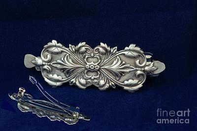Hair Barrette Art Nouveau Sterling Silver Original