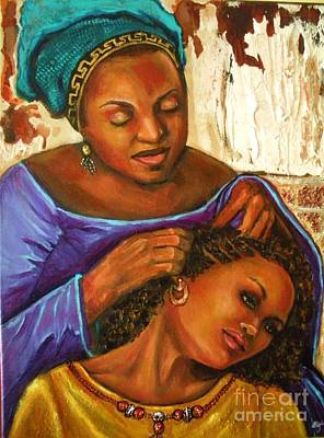 Painting - Hair Braiding by Alga Washington