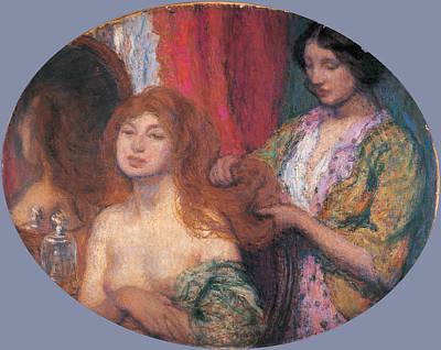 Aman-jean Painting - Hair by Edmond-Francois Aman-Jean