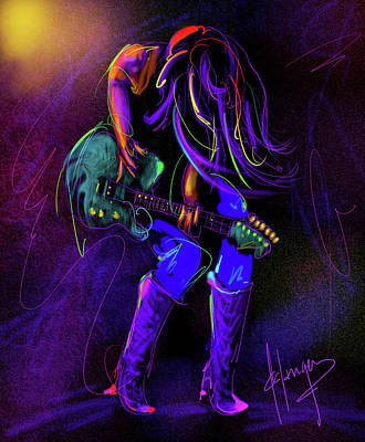 Hair Guitar Art Print