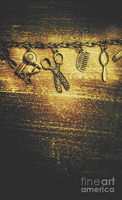 Scissors Photograph - Hairdressing Beauty Salon Background by Jorgo Photography - Wall Art Gallery