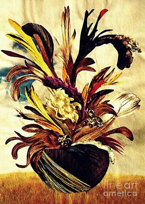 Hairflower Arrangement 2 Art Print by Sarah Loft