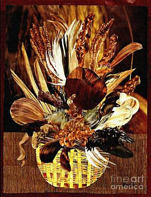 Hairflower Arrangement Art Print by Sarah Loft