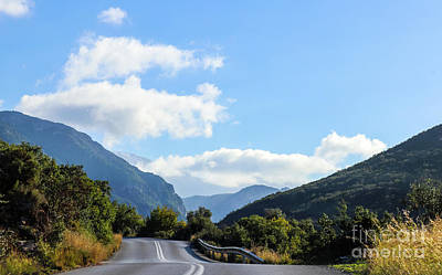 Photograph - Hairpin Curve On Greek Mountain Road by Susan Vineyard
