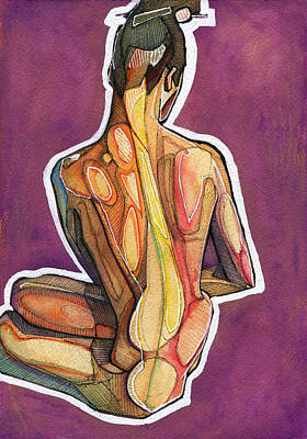 Figure Drawing Painting - Hair Pin by Rob Tokarz