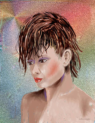 Hairstyle Digital Art - Hairstyle Of Colors by Arline Wagner