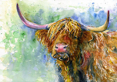 Painting - Hairy Coo 2 by John D Benson
